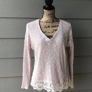 Jessica Simpson pink sweater top